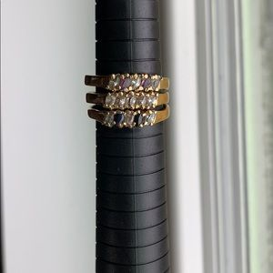 3 fashion stackable rings